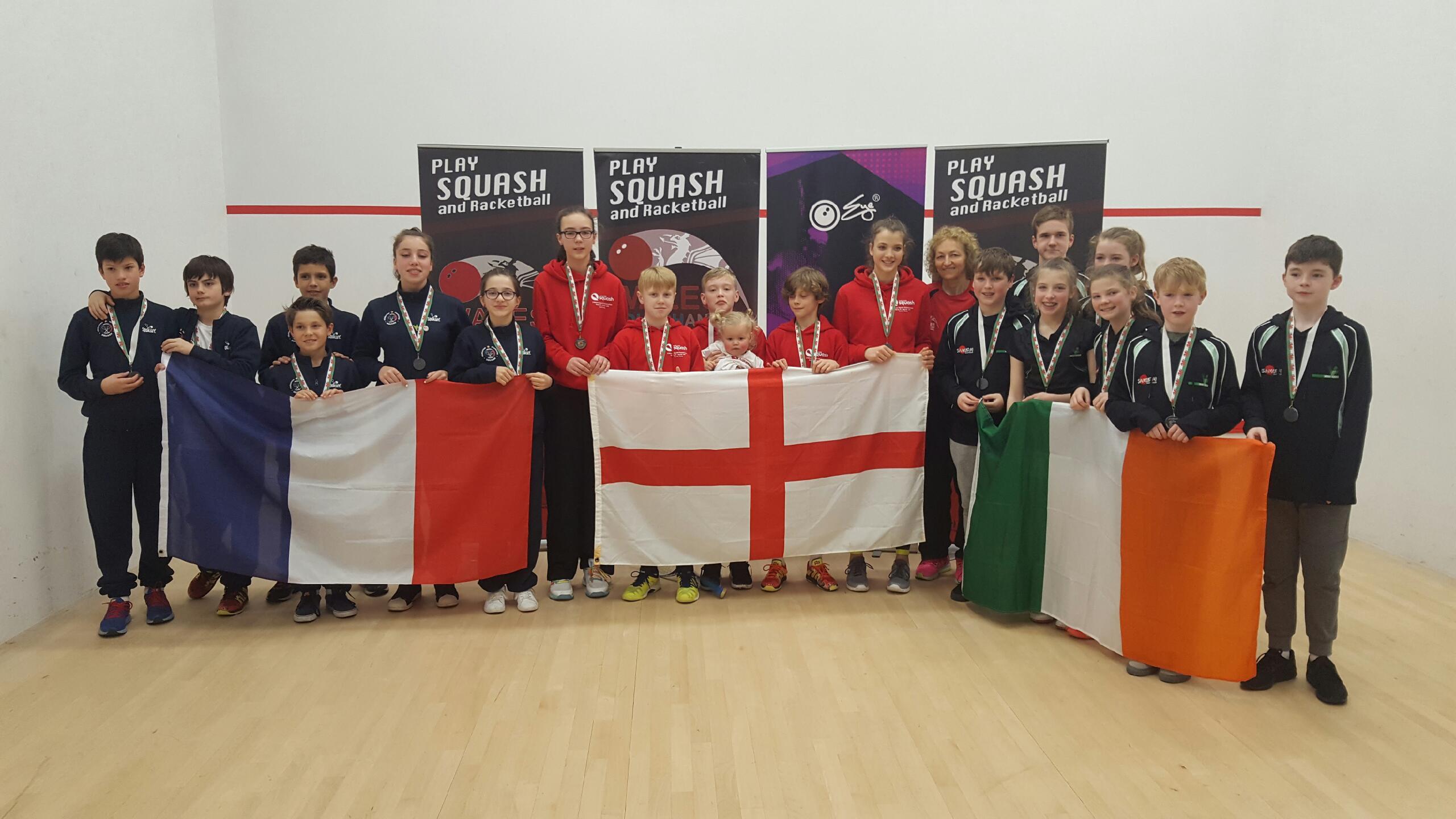 Squash jeunes : La France sur le podium