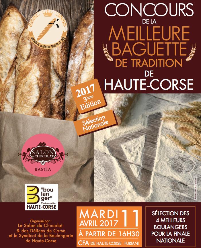 Concours de la meilleure baguette  de tradition de Corse : Rendez-vous mardi au CFA de Furiani