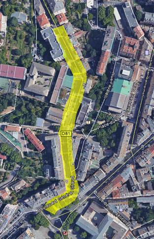 Bastia :  Travaux d'enrobés de nuit boulevard Giraud