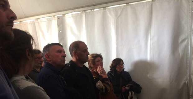 Fabienne Maestracci, Louis Cesari (filière oléicole), François Sargentini (ODARC), Cécile Mathieu (Pépinière du Golfe à Propriano), Pierre Torre (filière apicole).