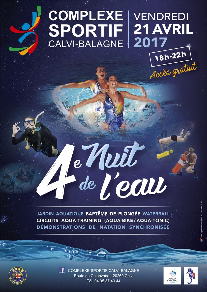 4e Nuit de l'eau le 21 avril au complexe sportif Calvi-Balagne