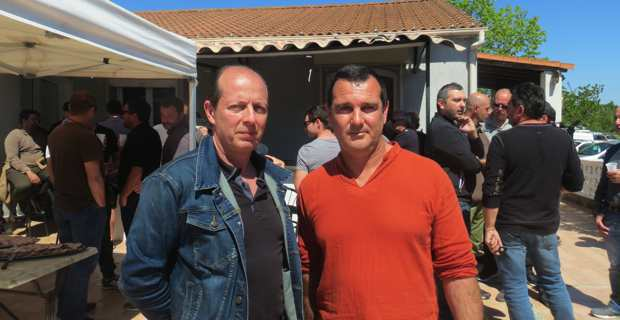Paul-Félix Benedetti, leader d'U Rinnovu, et Tony Santini, patron du restaurant l'Aria Marina.