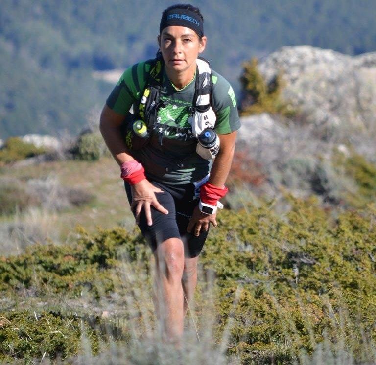 Emmanuelle Morrachini, première féminine dans le marathon de la Gravona. (© Maryline Brioschi)
