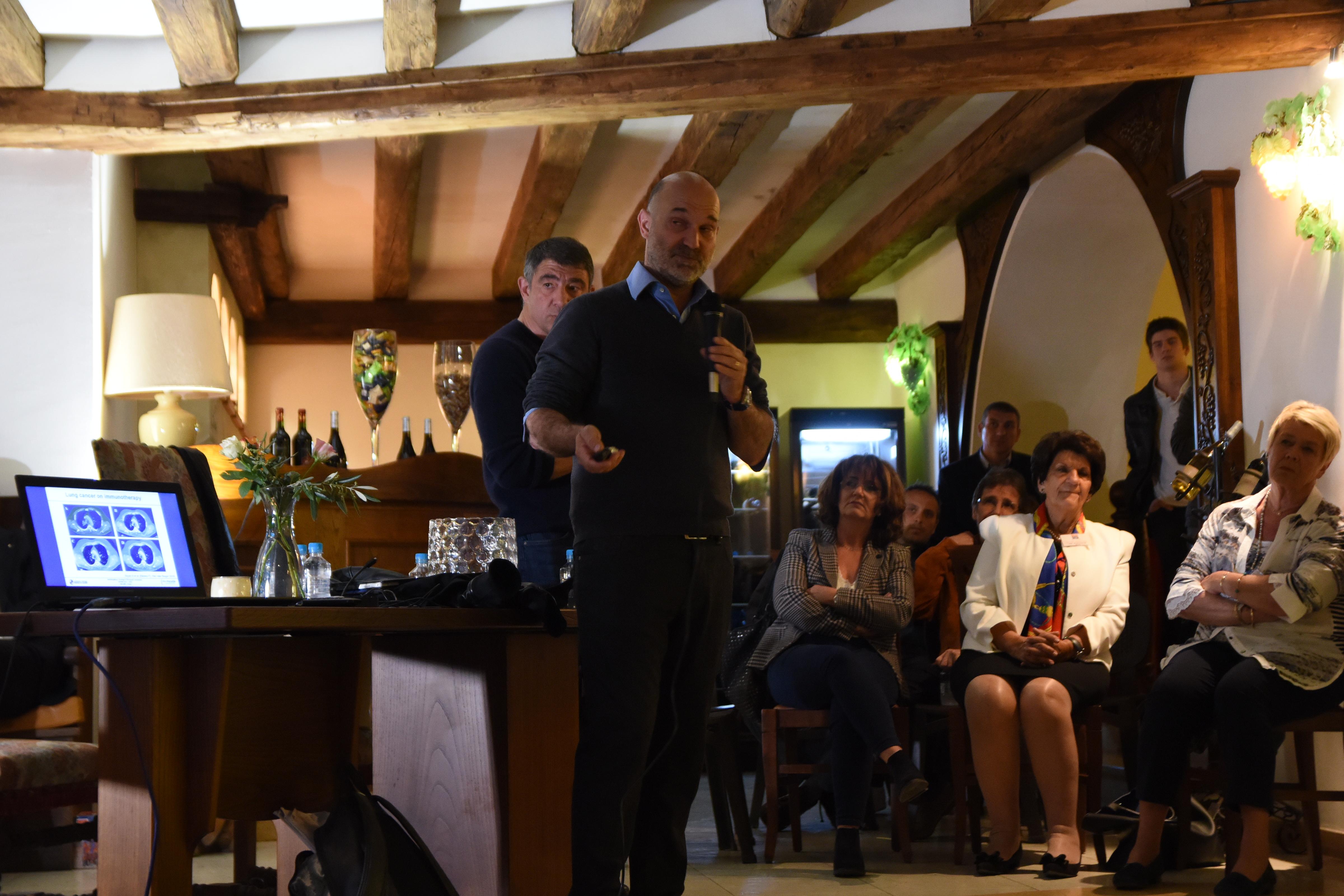 Conférence au Domaine Orsini de Calenzana  sur l'utilité des Mathématiques au service de la Médecine