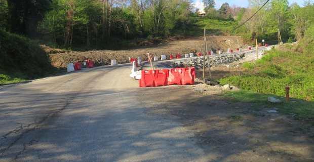 Travaux sur les routes de Castagniccia endommagées par les intempéries.