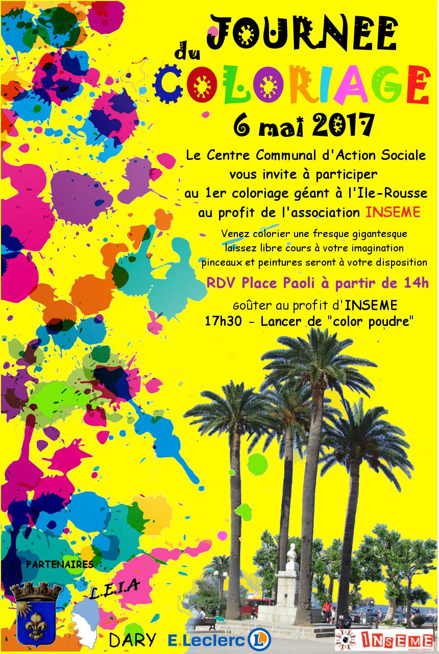 Journée du coloriage le 3 juin à L'Ile-Rousse