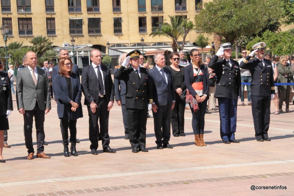 Ajaccio et la Corse ont commémoré la journée nationale du souvenir des victimes de la déportation