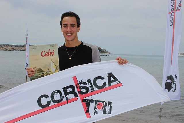 Brice Daubord, quadruple champion de France de cross-triathlon, se prépare à Calvi