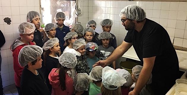 Les élèves «Agri'Gusti» de l'école de Sari d'Orcino se transforment en apprentis fromagers