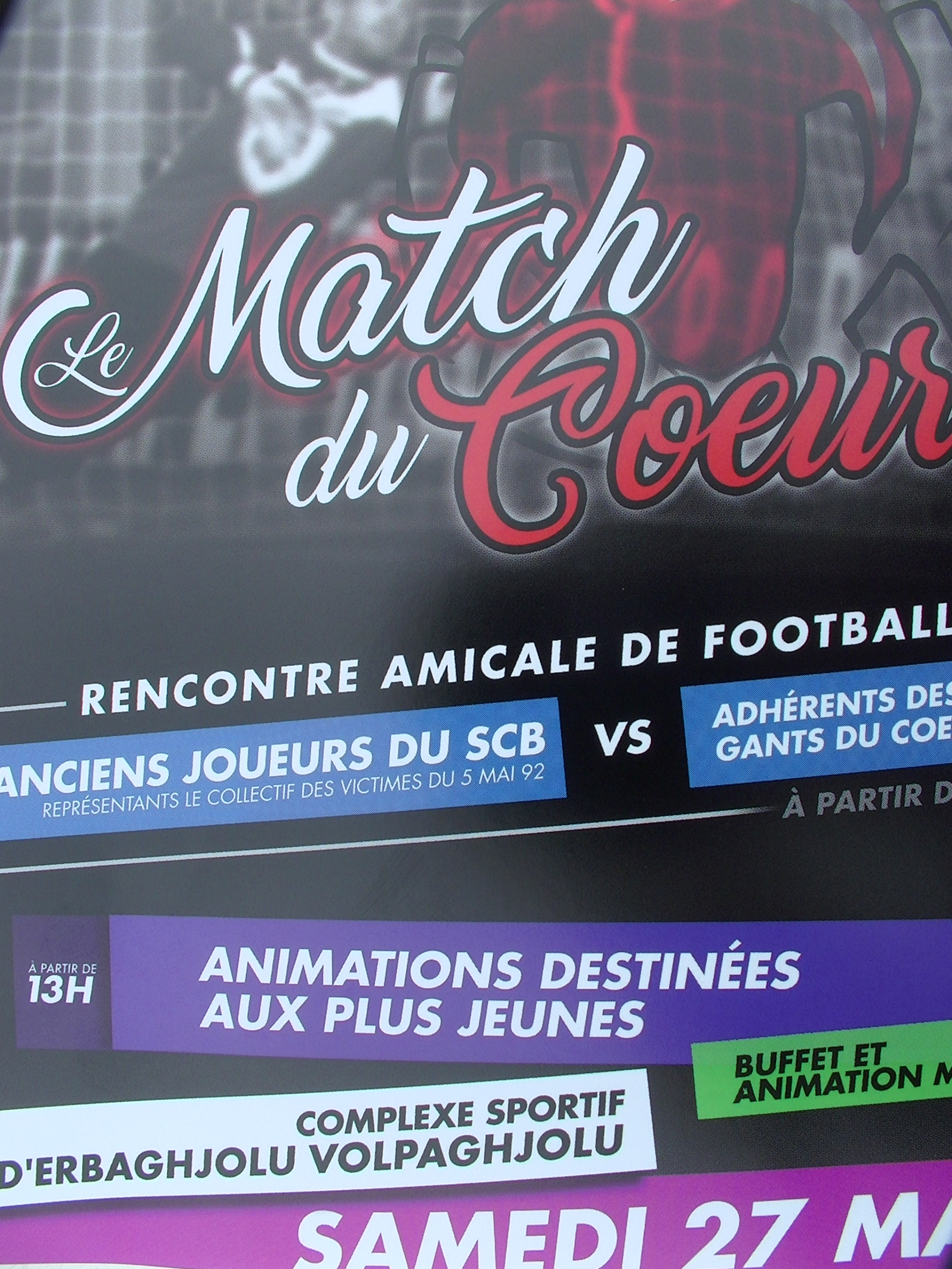 Football : « Match du cœur » le 27 Mai à Bastia