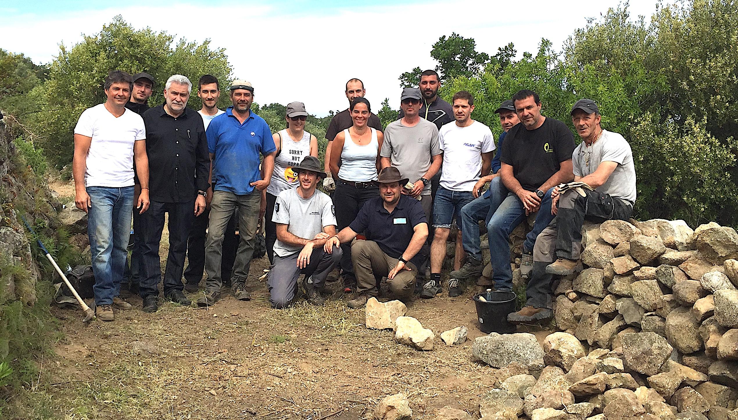 Balagne : Formations à la restauration des murs en pierres sèches pour les agents publics