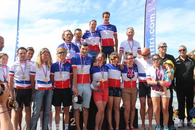 Remise des prix du Corsica Xtri championnat de France à Calvi