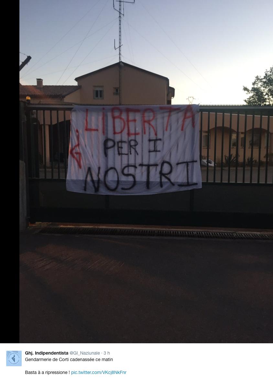 La gendarmerie de Corte cadenassée. Alerte à la bombe à Bastia