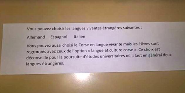 Langue corse au collège : La fiche qui fait des vagues