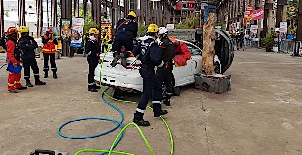 L'équipage Corse en action sur l'épreuve courte (© SDIS 2A)
