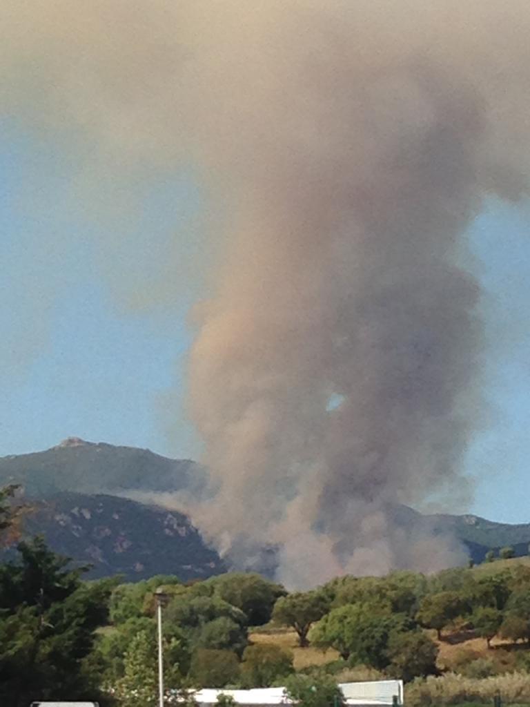 Important feu de maquis sur la commune de Sarrola