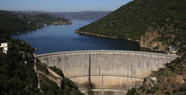 A Diga di Monte su Rei, un barrage artificiel situé dans la province Sud de la Sardaigne.