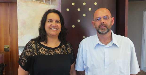 Corinne Angeli, chef de service à la CCI2B, et de Jean-Pierre Fabiani, expert-comptable et commissaire aux comptes à Bastia, président de la Commission Transmission et Création d'entreprises de l'Ordre des experts-comptables.