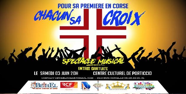 «Chacun sa croix», un spectacle musical au centre culturel de Porticcio