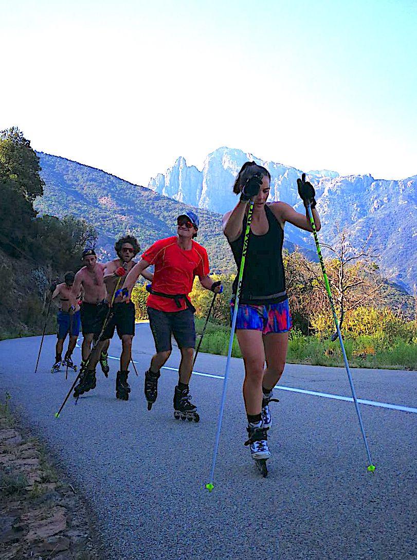 L'équipe de France de Skicross se prépare en Corse