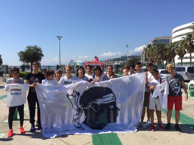 Les U15 du Football Club Squadra Calvi à Pegomas