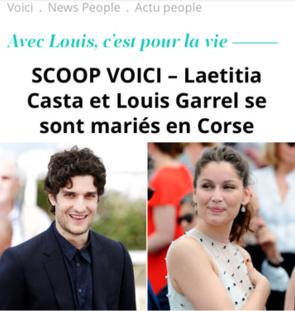 Mariage Lætitia Casta - Louis Garrel à Lumio