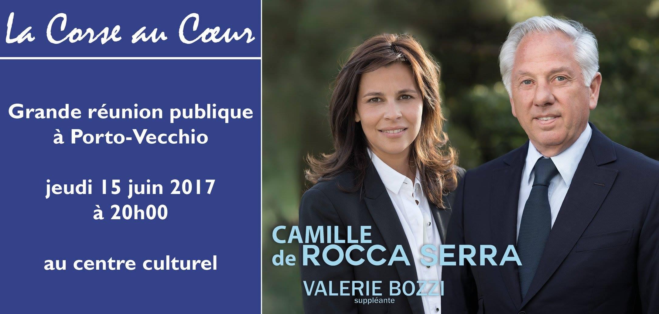 Législatives : meeting d'entre-deux-tours pour Camille De Rocca Serra