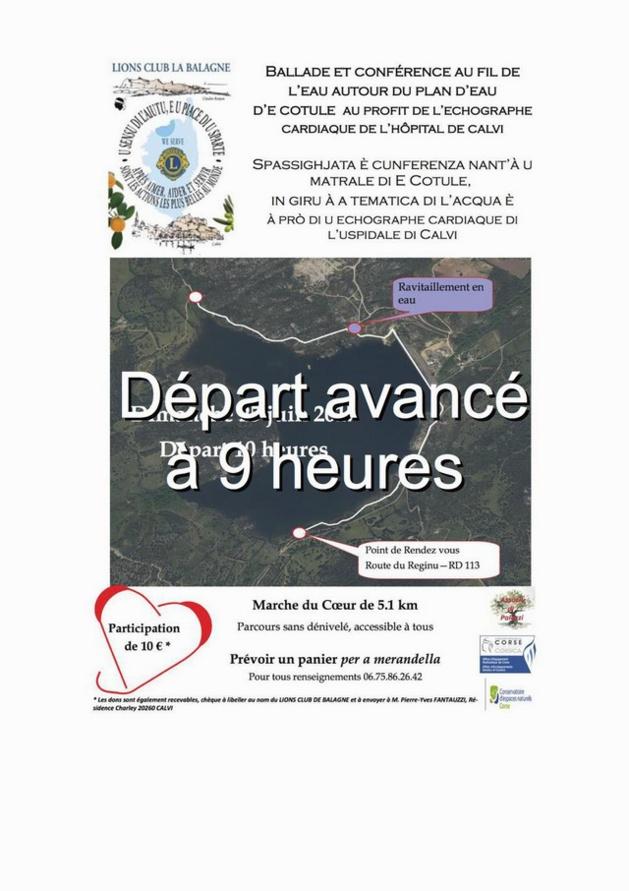 """""""Marche pour le cœur"""" au profit du centre hospitalier Calvi-Balagne"""