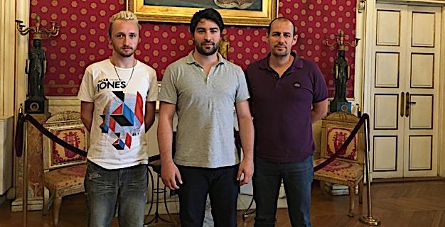 De gauche à droite : Guilhem Vion, Antoni Chareyre et Franck Dubernet