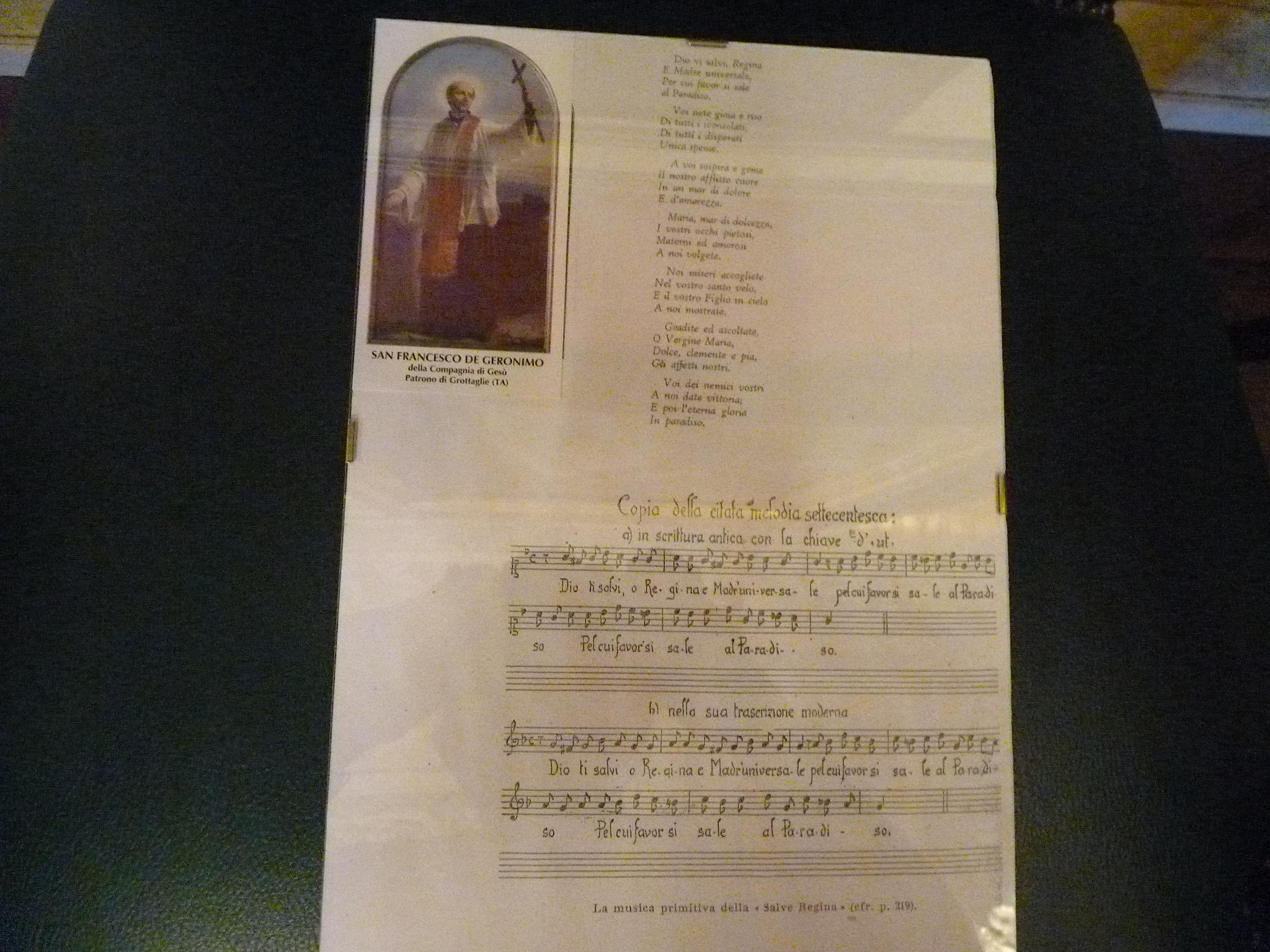 L'original du Dio Vi Salvi Regina