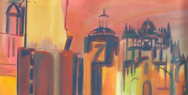 Détail d'une peinture exporée à A Spannata