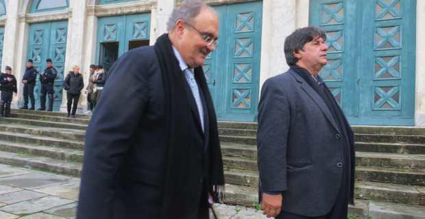 Paul Giacobbi devant le tribunal correctionnel de Bastia en novembre 2016 lors du procès des gîtes ruraux.
