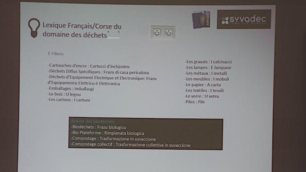 Déchets : Un lexique Français-Corse pour traduire le vocabulaire technique