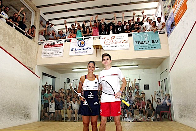Open international de Squash di Lisula : Benjamin Aubert et Faustine Gilles vainqueurs