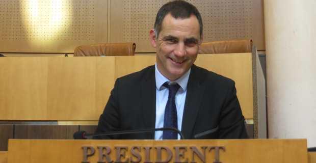 Gilles Simeoni, président du Conseil exécutif de la Collectivité territoriale de Corse (CTC).