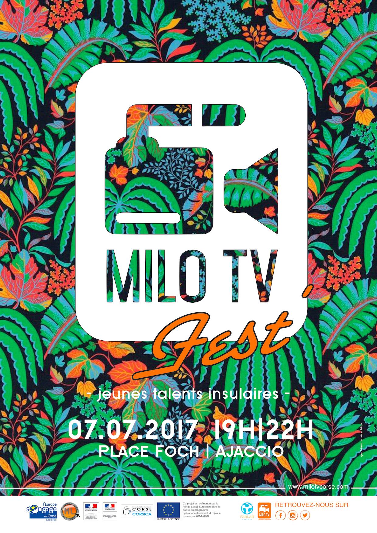 La MILO TV fait son festival le 7 juin à Ajaccio