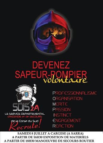 SDIS: promotion du volontariat au sein du corps des Sapeurs Pompiers à Cargese