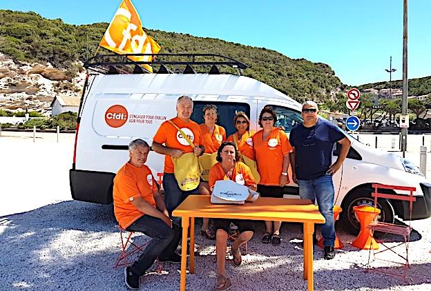 """La CFDT Corsica a entamé sa """"campagne des saisonniers"""" à Bonifacio"""