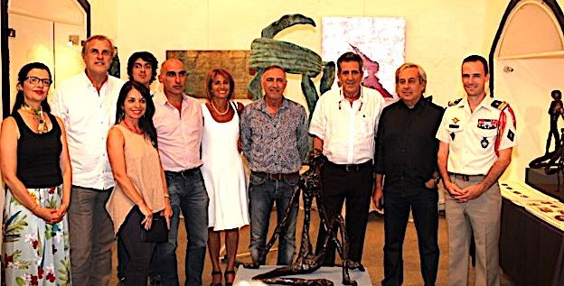 Vernissage à Calvi de l'exposition de Gabriel Diana