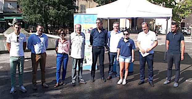 Tri sélectif : Un système innovant pour la place du marché à Bastia