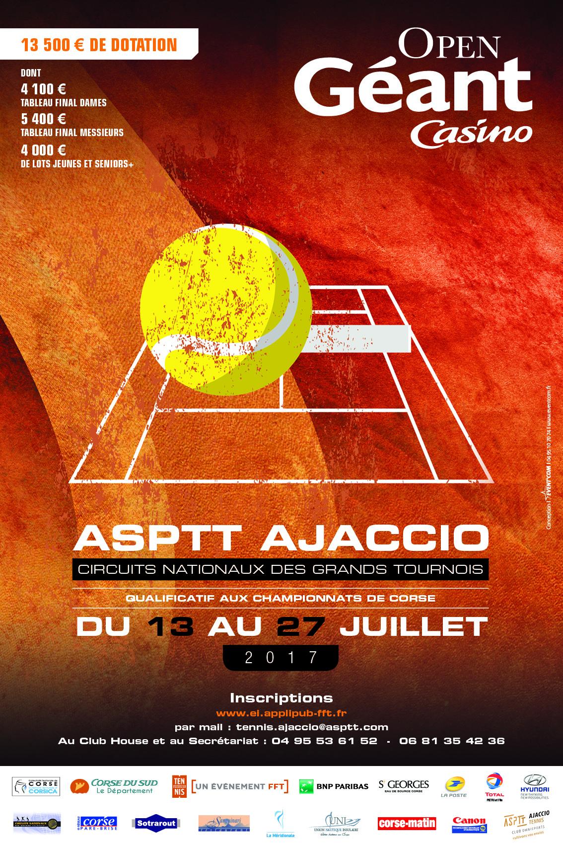 Open Géant:  400 joueurs sur la terre battue de Baleone