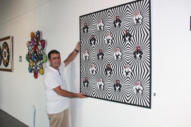 Laurent Silvani s'expose aux rencontres de l'art  et du vin  au Clos Colombu de Lumio