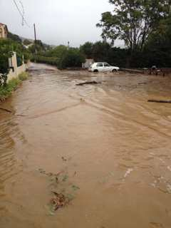 Ponte Novu sous les inondations d'octobre 2015.