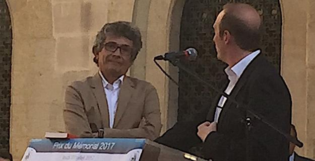 PHilippe Costamagna avec Laurent Marcangeli, le maire d'Ajaccio