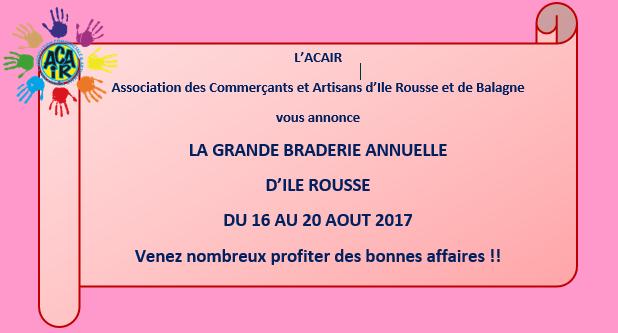 Ile-Rousse : La grande braderie annuelle aura lieu du 16 au 20 août