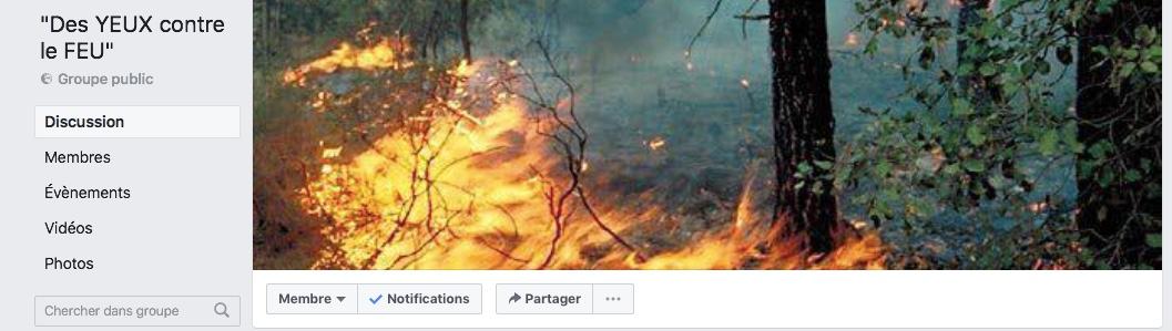 Initiative citoyenne corse sur Facebook: «des YEUX contre le FEU»