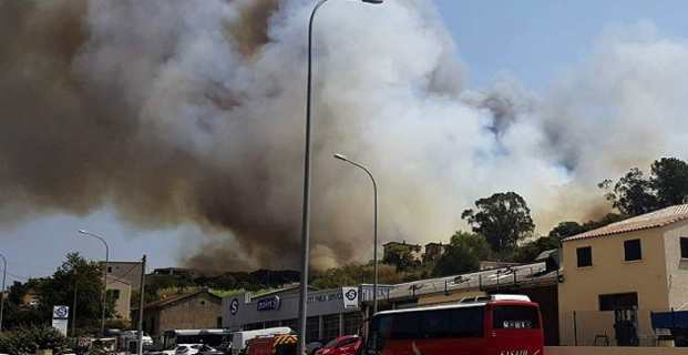 Incendie dans le quartier de Pietralba à Ajaccio