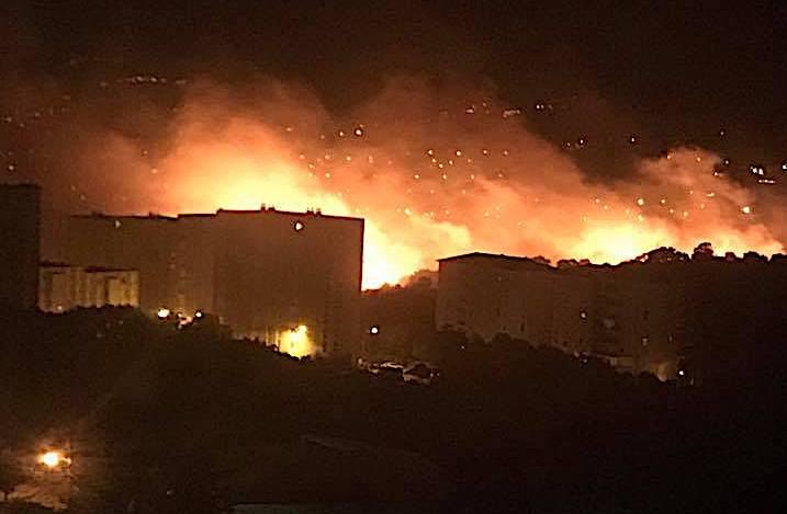 Bastia : 5 mises en feu en quelques heures et une personne en garde à vue