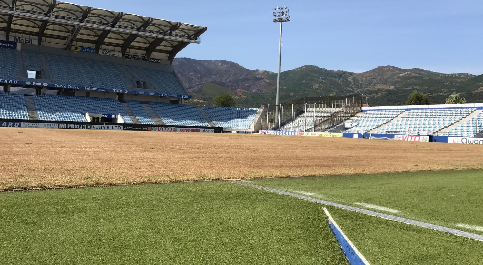 Stade de Furiani : La pelouse sera remise en état pour le mois d'Octobre