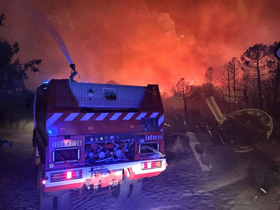 Lecci : Une dizaine d'hectares détruits par le feu au petit matin